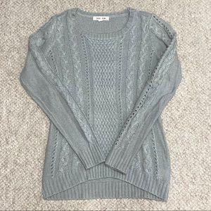 Target Pink Rose Gray Long-Sleeve Knit Sweater